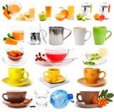Grande raccolta delle bevande Fotografia Stock
