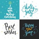 Grande raccolta modelli della carta luminosa del nuovo anno o di Natale Fotografia Stock
