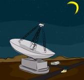 Grande radiotelescopio Fotografia Stock