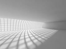 Grande rappresentazione leggera vuota del corridoio 3D Immagine Stock
