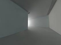 Grande rappresentazione leggera vuota del corridoio 3D Fotografie Stock Libere da Diritti