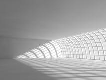 Grande rappresentazione leggera vuota del corridoio 3D Immagine Stock Libera da Diritti
