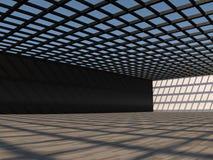 Grande rappresentazione leggera vuota del corridoio 3D Immagini Stock Libere da Diritti
