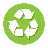 Grande recicle el icono grande para cualquier uso, vector EPS10 Fotos de archivo