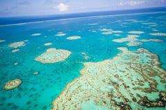 Grande recife de barreira do céu foto de stock royalty free