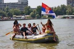 Grande regata 2011 di Zemun. immagine stock