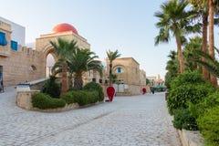 Grande reproduction de la vieille Médina en Yasmine Hammamet, Tunisie image libre de droits