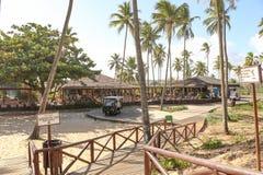 Grande ristorante della spiaggia del palladio Fotografie Stock
