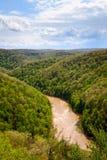Grande rivière nationale et aire de loisirs de South Fork Image libre de droits