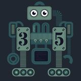 Grande robot pesante royalty illustrazione gratis