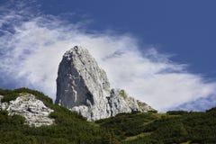 Grande roccia dell'Austria Tauplitzalm Immagini Stock Libere da Diritti
