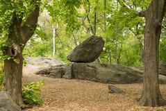 Grande roccia nel parco Fotografie Stock Libere da Diritti
