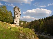 Grande roccia in Polonia Immagini Stock Libere da Diritti
