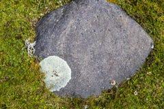 Grande roccia in valle di Collanes in vulcano dell'altare di EL Immagini Stock