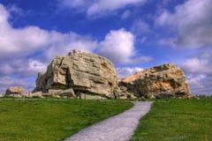Grande roche de HDR Images libres de droits