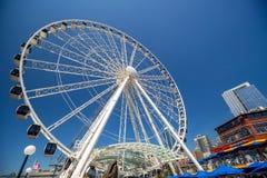 A grande roda de Seattle Imagens de Stock