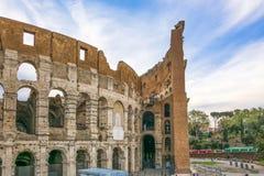 Grande Roman Colosseum Coliseum, Colosseo em Roma Fotografia de Stock