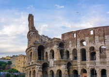 Grande Roman Colosseum Coliseum, Colosseo em Roma Fotografia de Stock Royalty Free