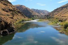 Grande Ronde River Meandering Through Rocky Hillsides Stock Images