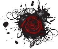 Grande Rose grunge éclaboussée Photos libres de droits