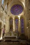 Grande rosewindow della cattedrale Immagini Stock