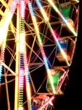 Grande rotella su una fiera di divertimento nell'effetto speciale Fotografie Stock Libere da Diritti