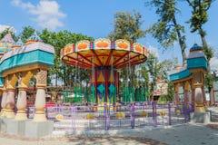 Grande rotonda nel parco della città di resto immagine stock