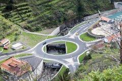 Grande rotonda sull'isola della Madera immagini stock libere da diritti