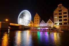 Grande roue à Danzig, Pologne Image libre de droits