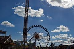 Grande roue à la Bavière d'Oktoberfest Munich photographie stock libre de droits