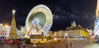 Grande roue à Lille à Noël Royalty Free Stock Photo