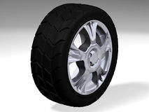 Grande roue avec le pneu de sport illustration stock