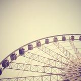 Grande roue avec le rétro effet image libre de droits
