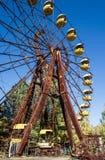 Grande roue dans la zone de Chornobyl photographie stock libre de droits