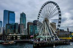 Grande roue de Seattle Photos stock
