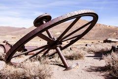 Grande roue en métal photographie stock libre de droits