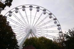 Grande roue en parc Photos libres de droits