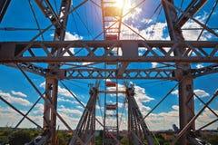 Grande roue géante de Prater Riesenrad dans la vue de Vienne photos stock