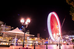 Grande roue, grande roue la nuit Sydney Photo stock