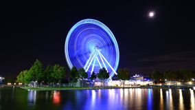 Grande roue lumineuse illustration de vecteur