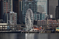 Grande roue sur le bord de mer, Seattle, Washington Photos libres de droits