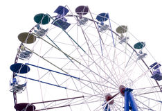 Grande roue sur le fond blanc Photo stock