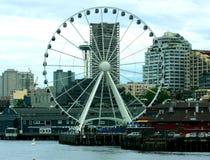 Grande roue sur le pilier, Seattle Image stock