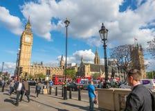 Grande rua de George com Big Ben em Londres Foto de Stock