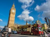 Grande rua de George com Big Ben em Londres Fotografia de Stock