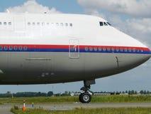 Grande rullaggio dell'aereo immagini stock