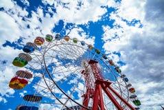 Grande ruota ad una luna park Fotografia Stock Libera da Diritti