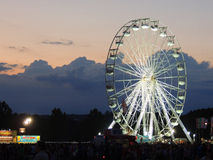 Grande ruota al festival dell'isola di Wight Immagini Stock Libere da Diritti
