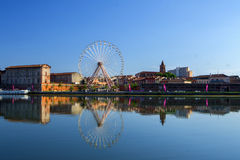 Grande ruota a Tolosa, Francia fotografie stock