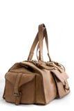 Grande sacchetto di cuoio del Brown Fotografia Stock Libera da Diritti